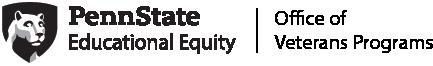 Penn State Educational Equity T3 brand identity for Veterans Programs