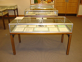 Close up of one of the display cases.
