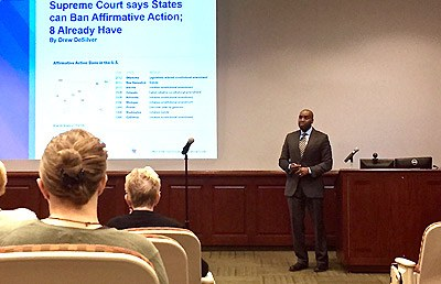 Dean's Diversity Forum features guest speaker Marcus Whitehurst