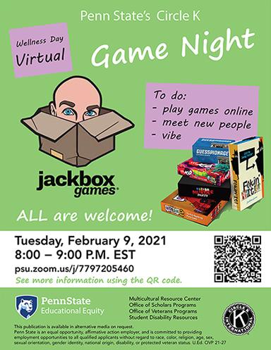 Virtual Game Night Poster