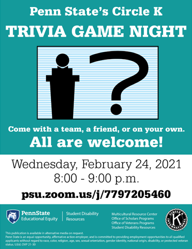 Trivia Game Night Poster art