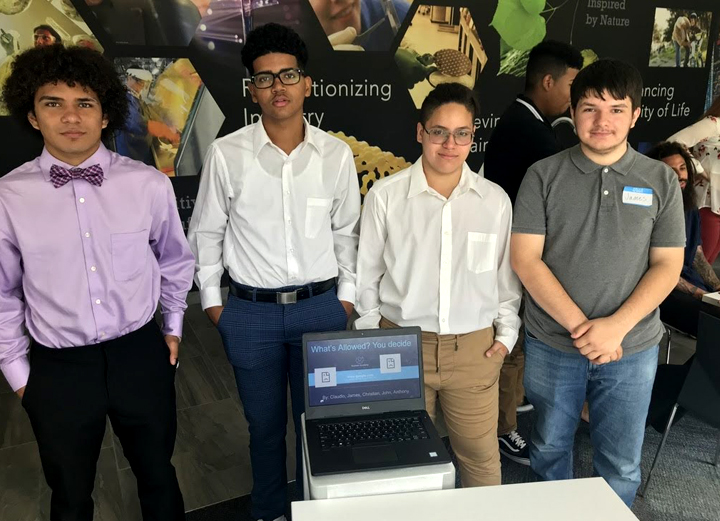 UBP Coding Camp group of students