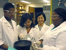 UBMS Students in Lab