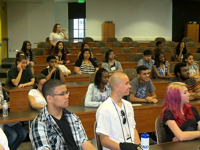 UBMS Students in Assembly Room